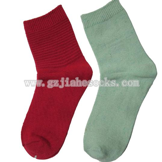 warm female terry wool socks