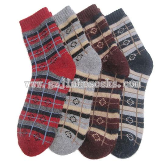 ladies jacquard wool socks