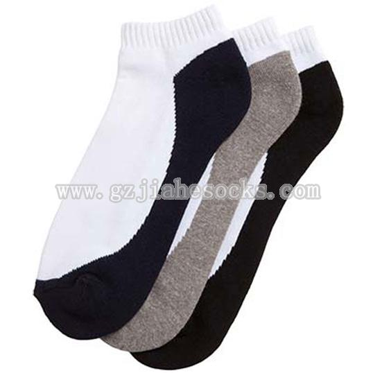 Double color ankle sport socks